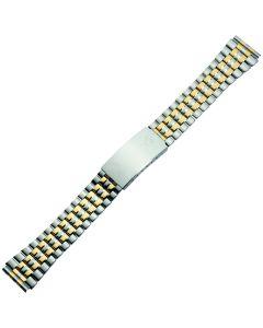 Uhrband - Edelstahl - silber / gold - 18 & 20 mm