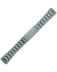 Uhrband - Edelstahl - titanfarbig / silber - 18, 20 & 22 mm