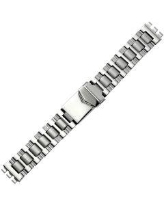 Uhrband - Edelstahl - silber - 17 mm