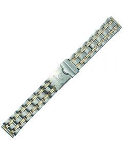 Uhrband - Edelstahl - silber / gold - 18, 20 & 22 mm