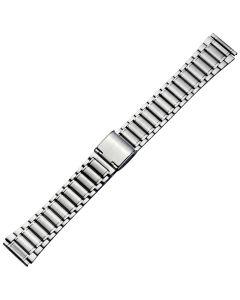 Uhrband - Edelstahl - silber - 18 mm