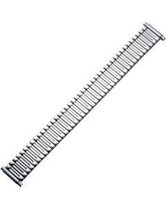 Uhrband - Edelstahl - XL -  silber - 16 bis 22 mm