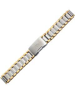 Uhrband - Edelstahl - silber / gold - 16 & 18 mm