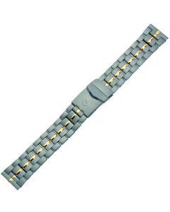 Uhrband - Titan - titan / gold - 20 mm