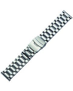 Uhrband - Edelstahl - silber - 24 mm
