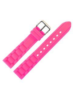 Uhrenarmband - Silikon - pink / silber - 18 mm
