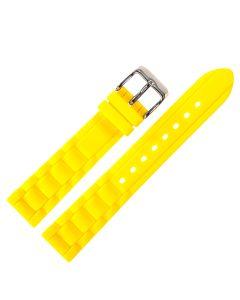Uhrenarmband - Silikon - gelb / silber - 18 mm