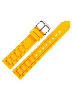 Uhrenarmband - Silikon - orange / silber - 18 mm