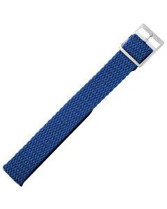 Marburger M950 Uhrenarmband Perlongeflecht blau