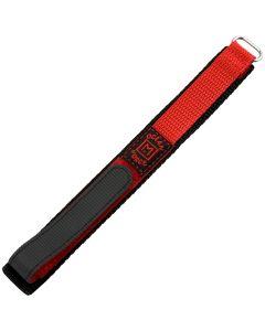 Marburger 955 Uhrenarmband Durchzugsband mit Klettverschluss rot/silber 18 mm