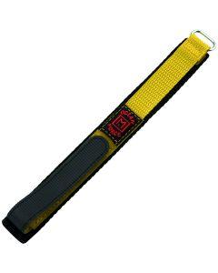 Marburger 955 Uhrenarmband Durchzugsband mit Klettverschluss gelb/silber 18 mm