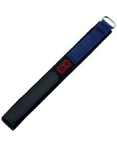 Marburger 955 Uhrenarmband Durchzugsband mit Klettverschluss blau/silber 16 mm