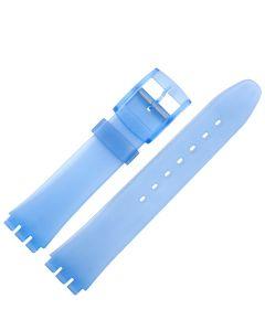 Uhrenarmband - Kunststoff, Spezialanstoß - transp/blau - 17 mm