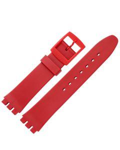 Uhrband - Kunststoff, Spezialanstoß - rot - 17 mm