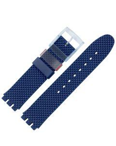 Marburger M963 Uhrenarmband Kunststoff Swatchanstoß dunkelblau