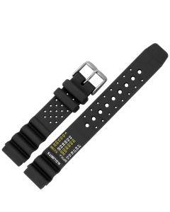 Uhrenarmband - Kunststoff - schwarz / silber - 18 mm